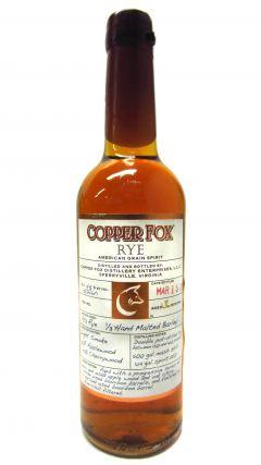 Copper Fox - Rye Grain Spirit - 2011 1 year old Whiskey