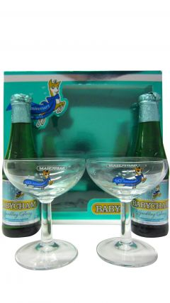 Champagne - Babycham 2 x Bottles & 2 x Glasses Gift Set Whisky