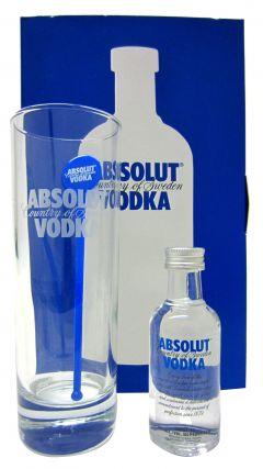 Vodka - Absolut Miniature & Glass Gift Set Whisky