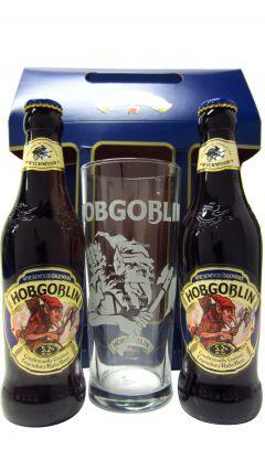 Beer / Lager / Cider - Hobgoblin 2 x Bottles Ruby Beer & Pint Glass Gift Set Whisky