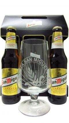 Beer / Lager / Cider - San Miguel Lager & Glass Gift Set Whisky