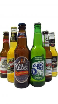 Beer / Lager / Cider - American Beers Six Pack Gift Set Whiskey