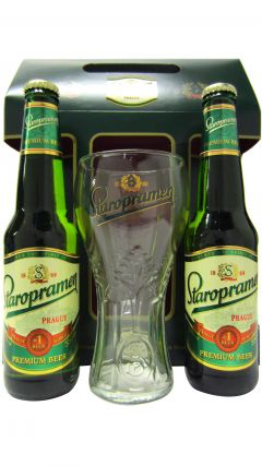 Beer / Lager / Cider - Staropramen Bottle & Glass Gift Set Whisky