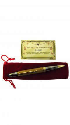 Macallan Whisky Cask Wood Rollerball & Tablet Pen