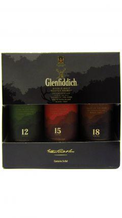 Glenfiddich - Single Malt Miniature Selection Gift Set 18 year old Whisky