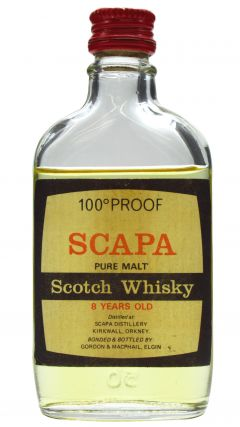 Scapa - Pure Malt 100 Proof Miniature Scotch 8 year old Whisky