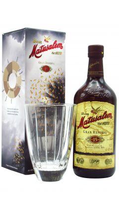 Matusalem - Glass Gift Pack & 15 Gran Reserva  Rum