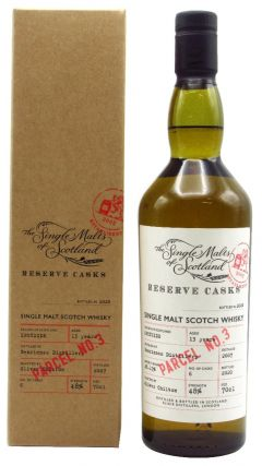 Benrinnes - Single Malts of Scotland - Reserve Cask - Parcel #3 - 2007 13 year old Whisky