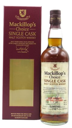 Glenrothes - Mackillop's Choice Single Cask #100088 - 1987 33 year old Whisky