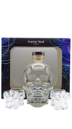 Crystal Head - GIft Pack - 4 x Shot Glasses &  Vodka