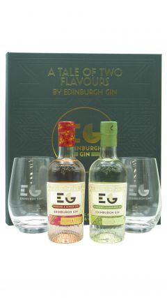 Edinburgh Gin - Tantalising Flavour Gift Set - 2 x Branded Glasses & 2 x 20cl Flavoured  Gin