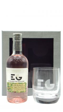 Edinburgh Gin - Glass Gift Box & 20cl Rhubarb & Ginger Gin Liqueur