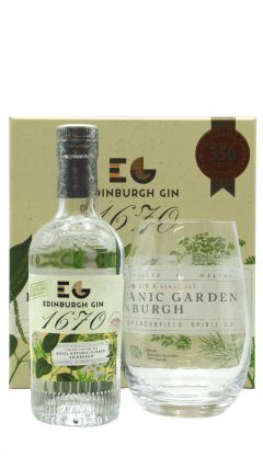 Edinburgh Gin - Glass Gift Box & 20cl 1670 Small Batch Gin