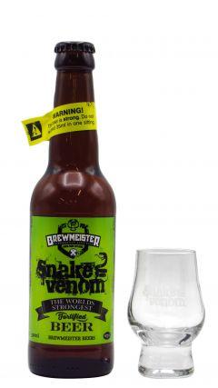 Brewmeister - Snake Venom World's Strongest Beer & FREE Branded Glass Beer / Lager