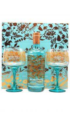 Silent Pool - Branded Copa Glass Gift Set & Silent Pool  Gin