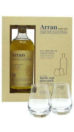 Arran - Glass Pack & Single Malt 10 year old Whisky