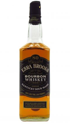 Ezra Brooks - Straight Bourbon Black Label 80 Proof Whiskey
