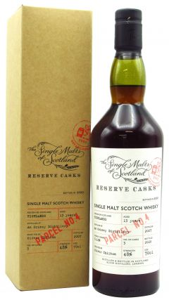 The Single Malts Of Scotland - An Orkney Distillery - Reserve Cask Parcel No.4  - 2007 13 year old Whisky