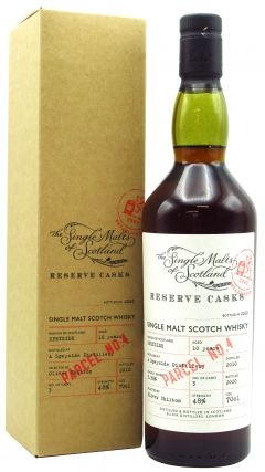 The Single Malts Of Scotland - A Speyside Distillery - Reserve Cask Parcel No.4 - 2010 10 year old Whisky
