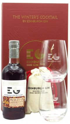 Edinburgh Gin - Mulled Gin Gift Pack - 2 x Glasses & Spice Pouch Liqueur