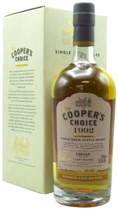 Girvan - Cooper's Choice Single Cask #133087 - 1992 26 year old Whisky