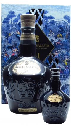 Royal Salute - Gift Pack with Miniature - Sapphire 21 year old Whisky