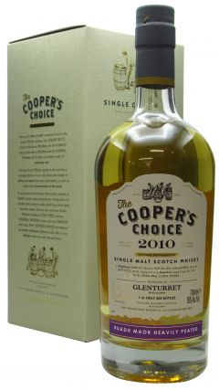 "Glenturret - Cooper's Choice - ""Ruadh Maor"" Heavily Peated - Single Cask #186 - 2010 9 year old Whisky"