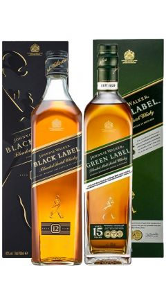 Johnnie Walker - Black Label & Green Label Whisky