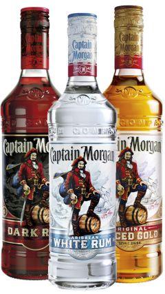 Captain Morgan - Dark & White & Spiced Rum