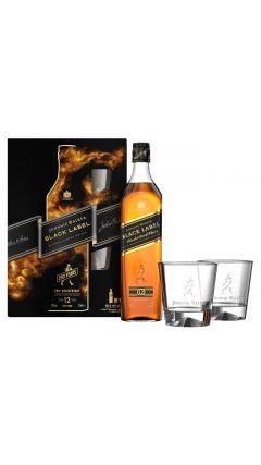 Johnnie Walker - Black Label Gift Pack - 2 x Glasses & Black Label  12 year old Whisky