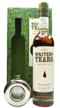 Writers Tears - Copper Pot Gift Box With Flask Irish Whiskey