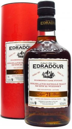 Edradour - Oloroso Cask Finish  21 year old Whisky