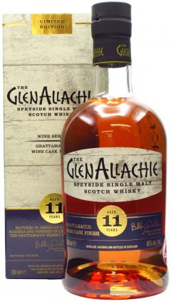 GlenAllachie - Wine Series - Grattamacco Wine Finsh 11 year old Whisky