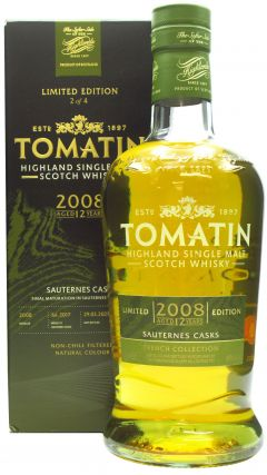 Tomatin - French Collection - Sauternes Cask - 2008 12 year old Whisky