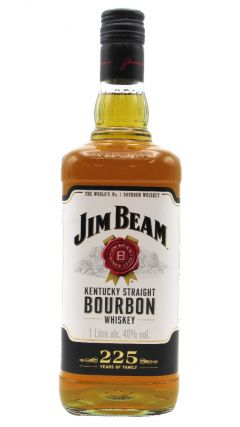 Jim Beam - White Label (1 Litre) 4 year old Whiskey