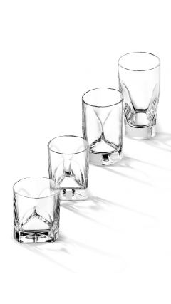 Enzo Mari Conversazione Highball Glass (Quad Pack)