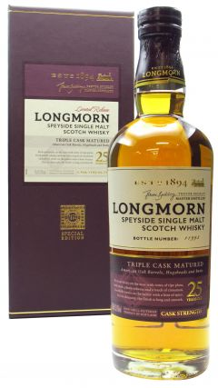 Longmorn - Secret Speyside - Single Malt 25 year old Whisky