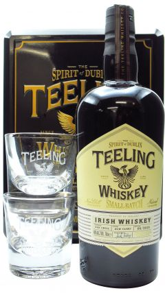 Teeling Whiskey Co. - 2 x Branded Glass Gift Pack & Small Batch Whiskey