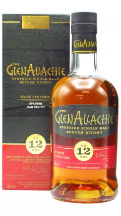 GlenAllachie - Virgin Oak Series - Spanish Oak Wood Finish 12 year old Whisky