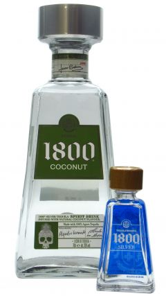 1800 - Coconut Infused & Free Silver 5cl Miniature Tequila