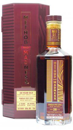 Midleton - Method & Madness - Ruby Port Pipe Single Pot Still Irish  28 year old Whiskey