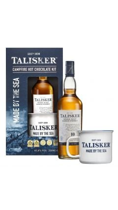 Talisker - Campfire Hot Chocolate Gift Set - Hot Chocolate Powder, Branded Mug & 20cl Talisker 10 year old Whisky