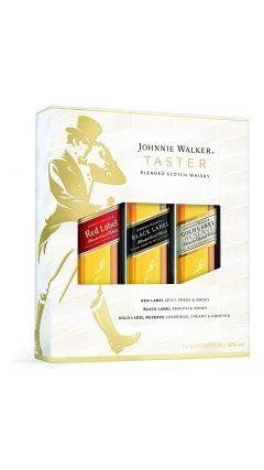 Johnnie Walker - Taster Set Gift Set - 3 x 5cl Miniature, Red, Black & Gold Label Whisky