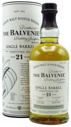 Balvenie - Traditional Oak Single Barrel #5383 - 1999 21 year old Whisky