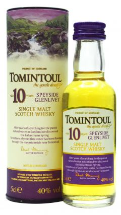 Tomintoul - Speyside Single Malt Miniature 10 year old Whisky