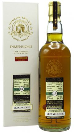 GlenAllachie - Dimensions Single Cask #309007931 - 2008 12 year old Whisky