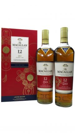Macallan - Double Cask Chinese Lunar Year Of The Rat 2020 (USA Edition) Twin Pack 12 year old Whisky