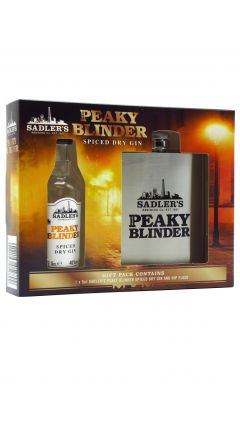 Peaky Blinders - Hip Flask Gift Pack w/ Miniature Spiced Gin