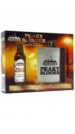 Peaky Blinders - Hip Flask Gift Pack w/ Miniature Irish Whiskey