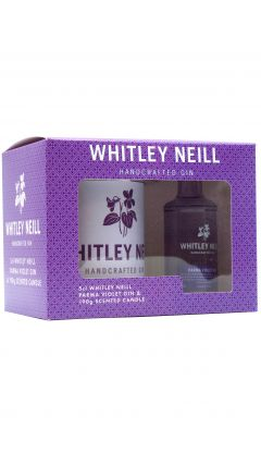 Whitley Neill - Gift Pack - Scented Candle & 5cl Parma Violet Gin